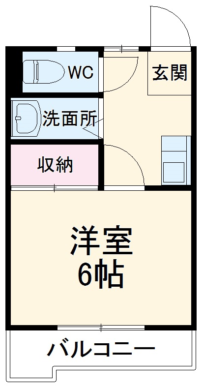 ハイツ福田・202号室の間取り