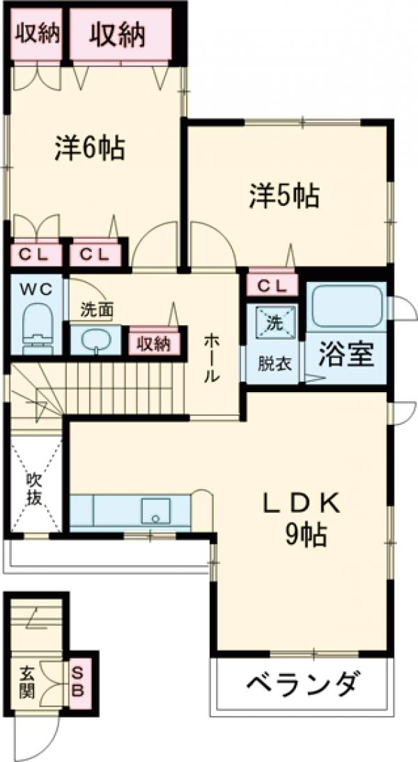 SAKURA HOUSE・201号室の間取り