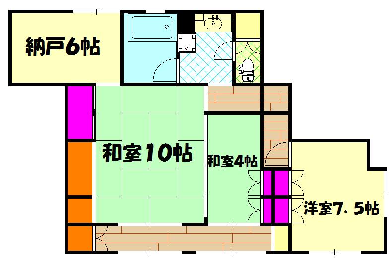上野桜木貸家・1号室の間取り