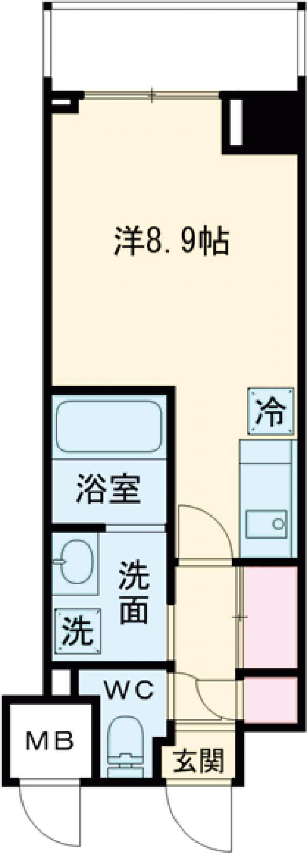 ART APARTMENT IN TOKYO NORTH・206号室の間取り