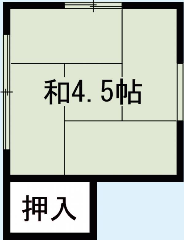 高田荘・202号室の間取り