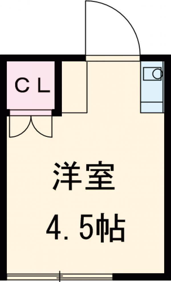 山口アパート・2号室の間取り