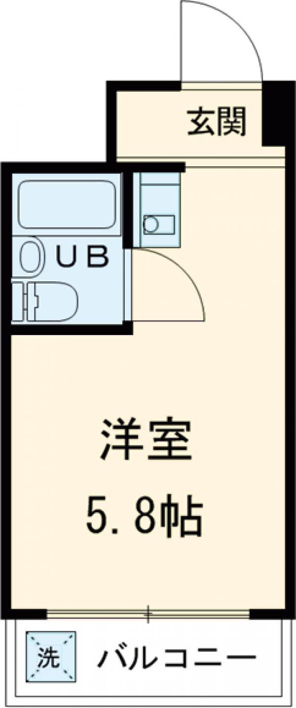 小金井ハイツ・115号室の間取り
