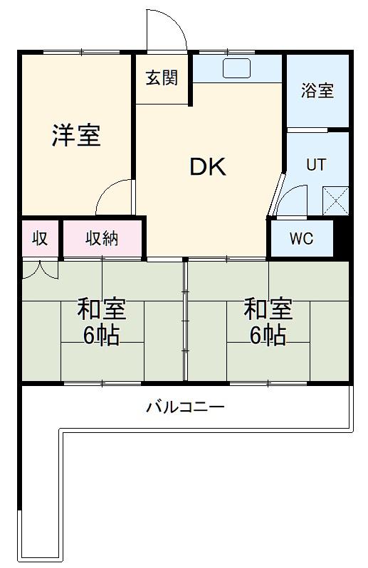 CORPO SHINYASHIKI・106号室の間取り