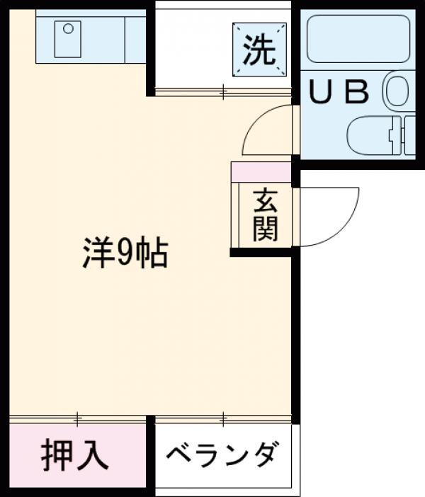 マンション六本木・303号室の間取り