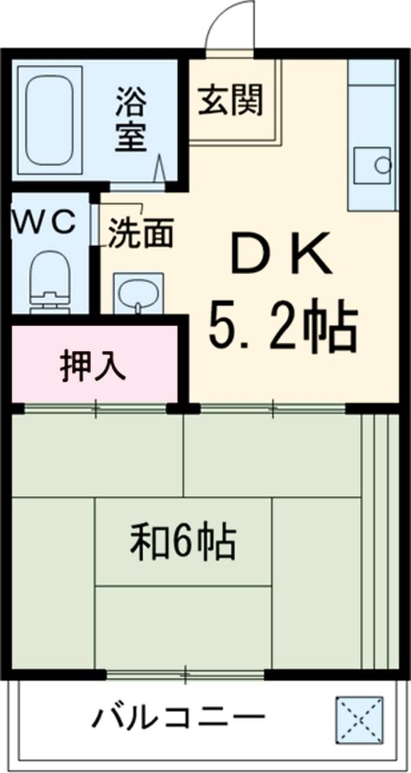 ハウス葵 203号室の間取り