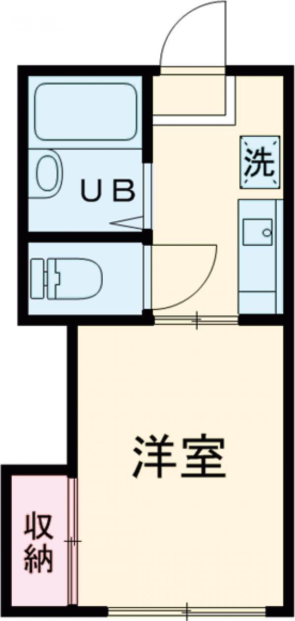 平成ハイツA棟 203号室の間取り