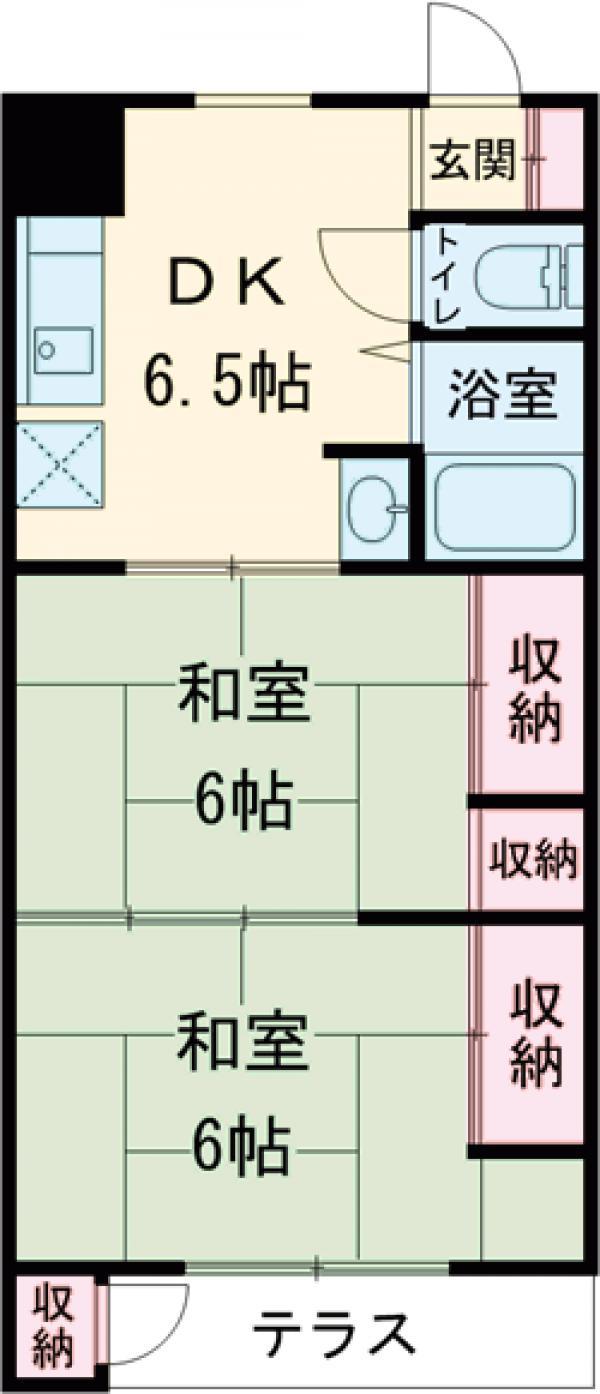コーポ今井・2-B号室の間取り