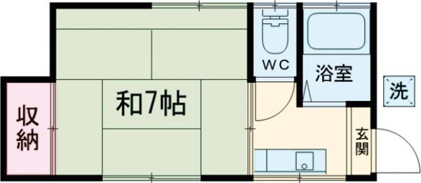 第二天竜荘 107号室の間取り