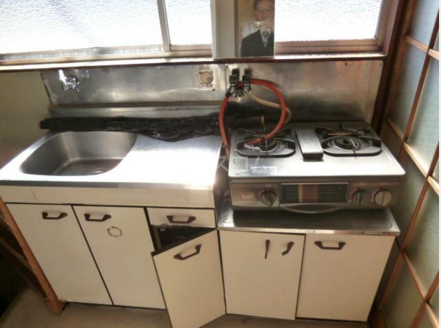 第二天竜荘 107号室のキッチン