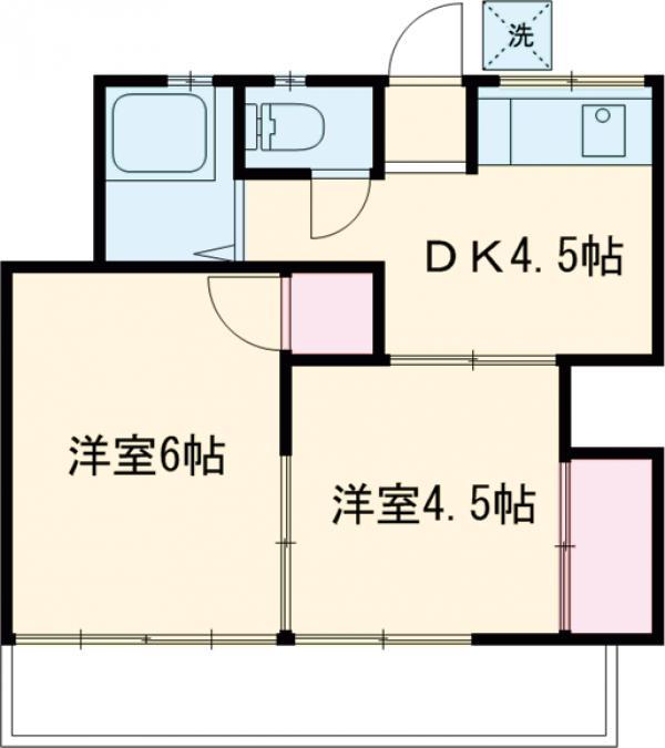 山田屋荘 202号室の間取り