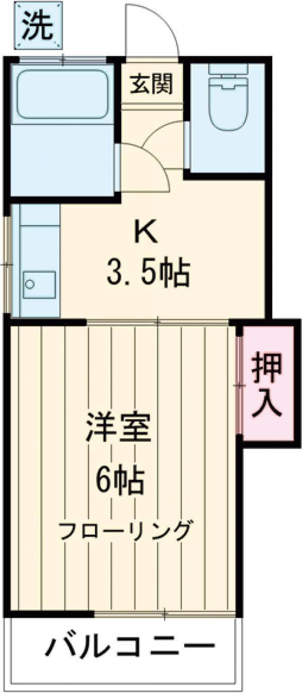 東栄荘・201号室の間取り