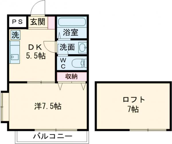 第5ひばりマンション・305号室の間取り