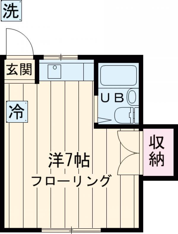 内田コーポ・202号室の間取り