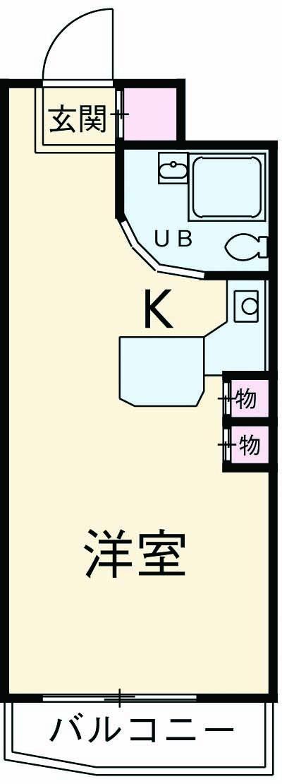 ラ・パルフェ・ド立川 106号室の間取り