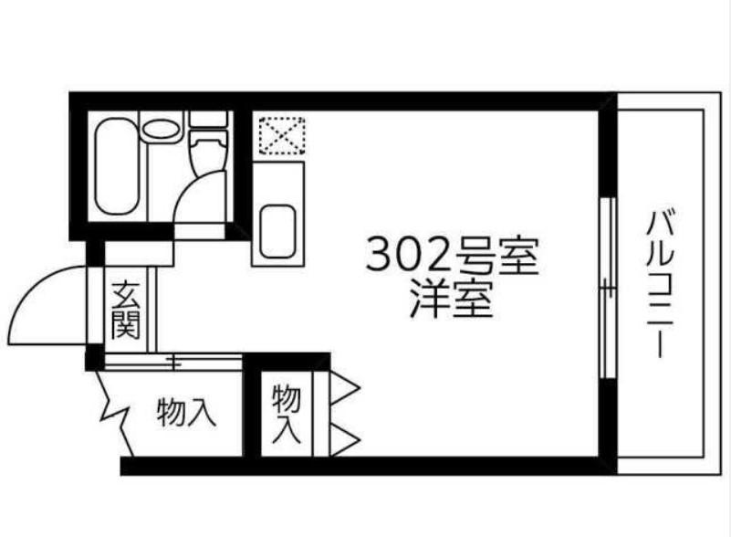 キクチファイブビル・302号室の間取り