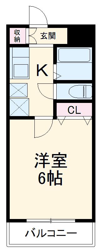 ロジマン蕨Ⅰ・2-307号室の間取り