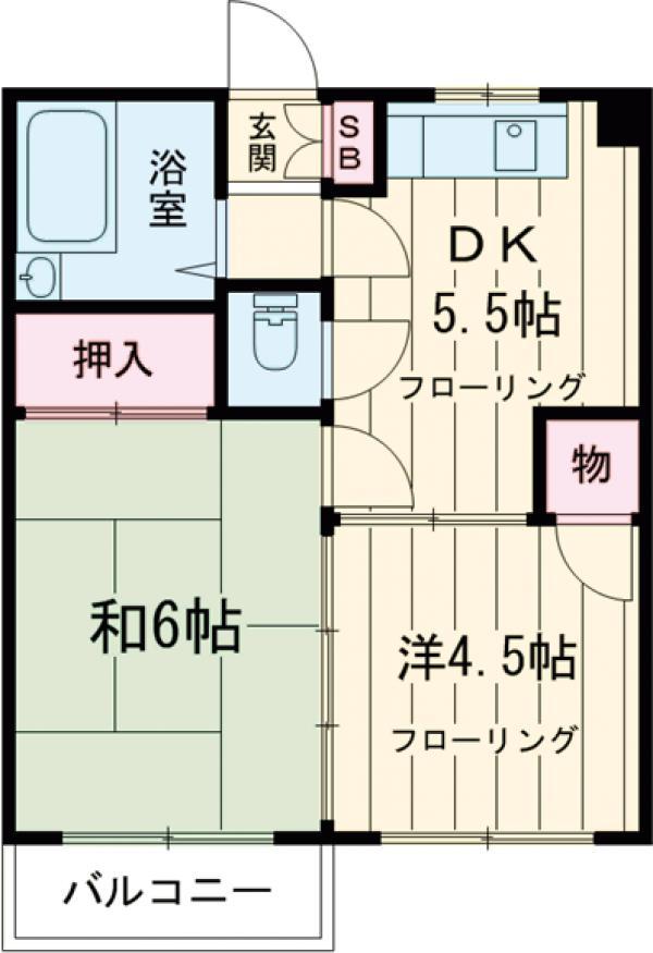 第12通南ビル 203号室の間取り