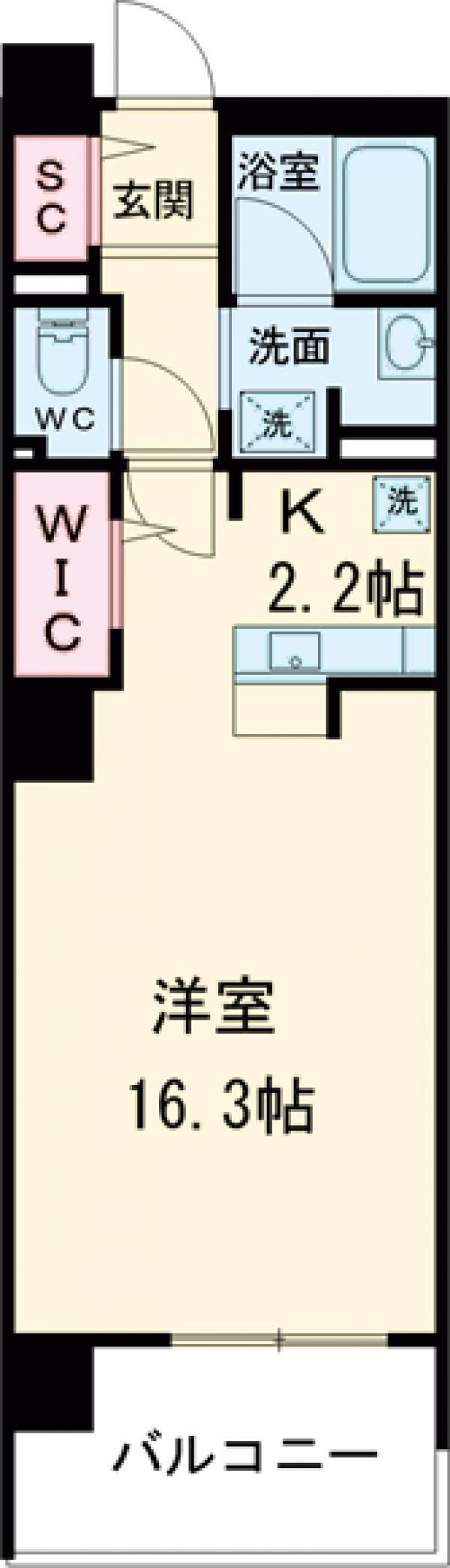 ロイヤルパークス花小金井・1209号室の間取り