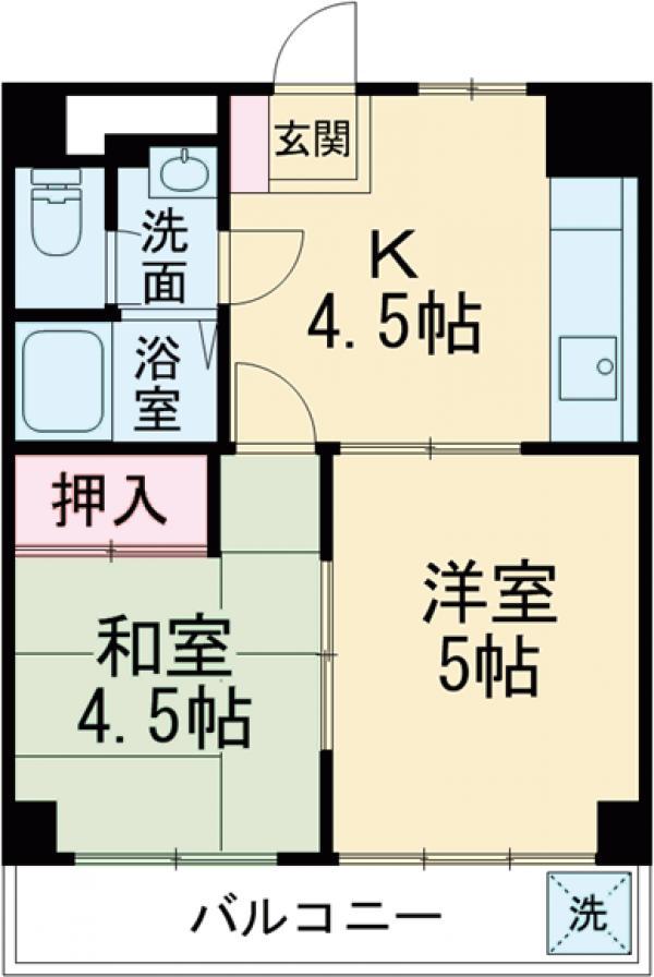 シティーホーム江戸川・202号室の間取り