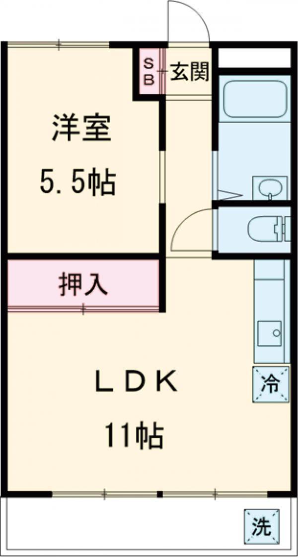 城西仙川マンション・207号室の間取り