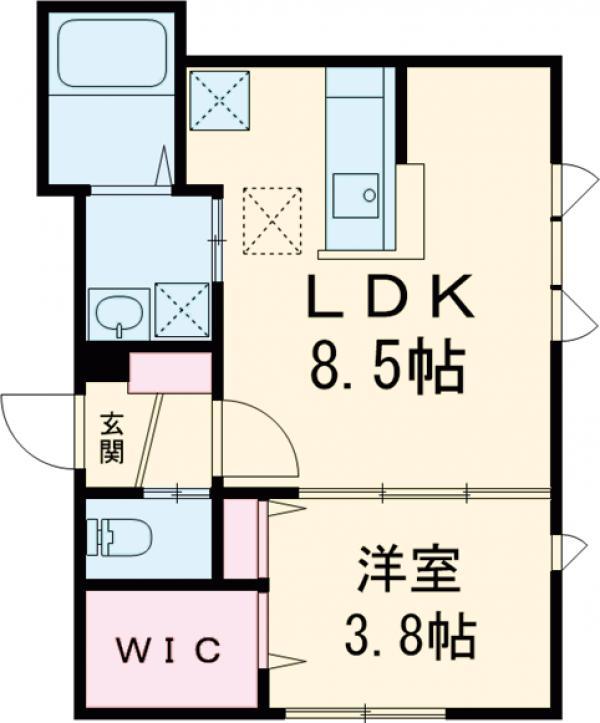 フィカーサ新高円寺 101号室の間取り