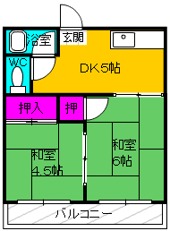 新和合メゾン 201号室の間取り