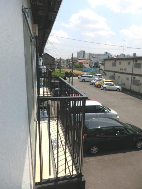 須賀コーポ 102号室のバルコニー