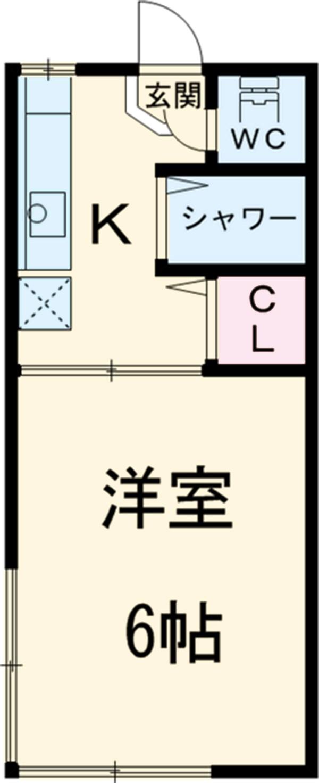 ピュアハウス市川・6号室の間取り