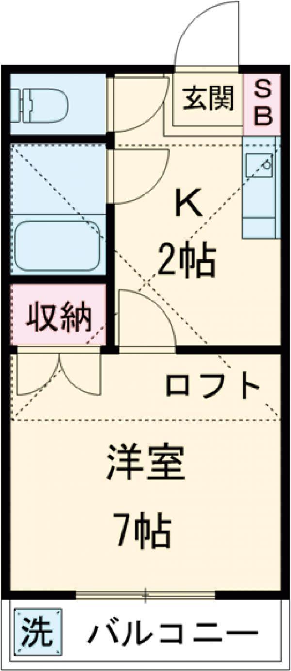 町田ハウス・202号室の間取り