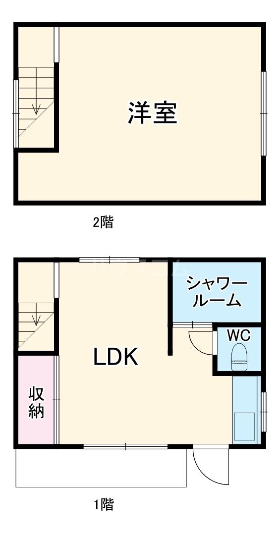 HEAVENichinomiya2・1号室の間取り