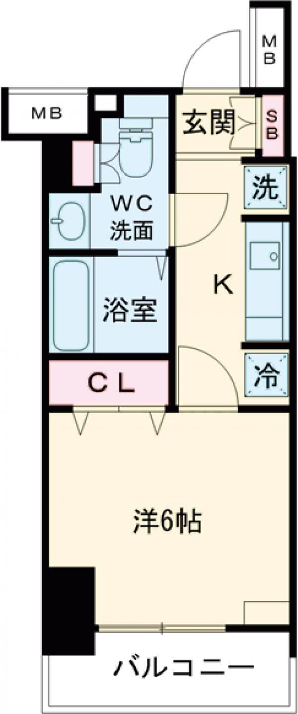 エスティメゾン錦糸町Ⅱ・812号室の間取り