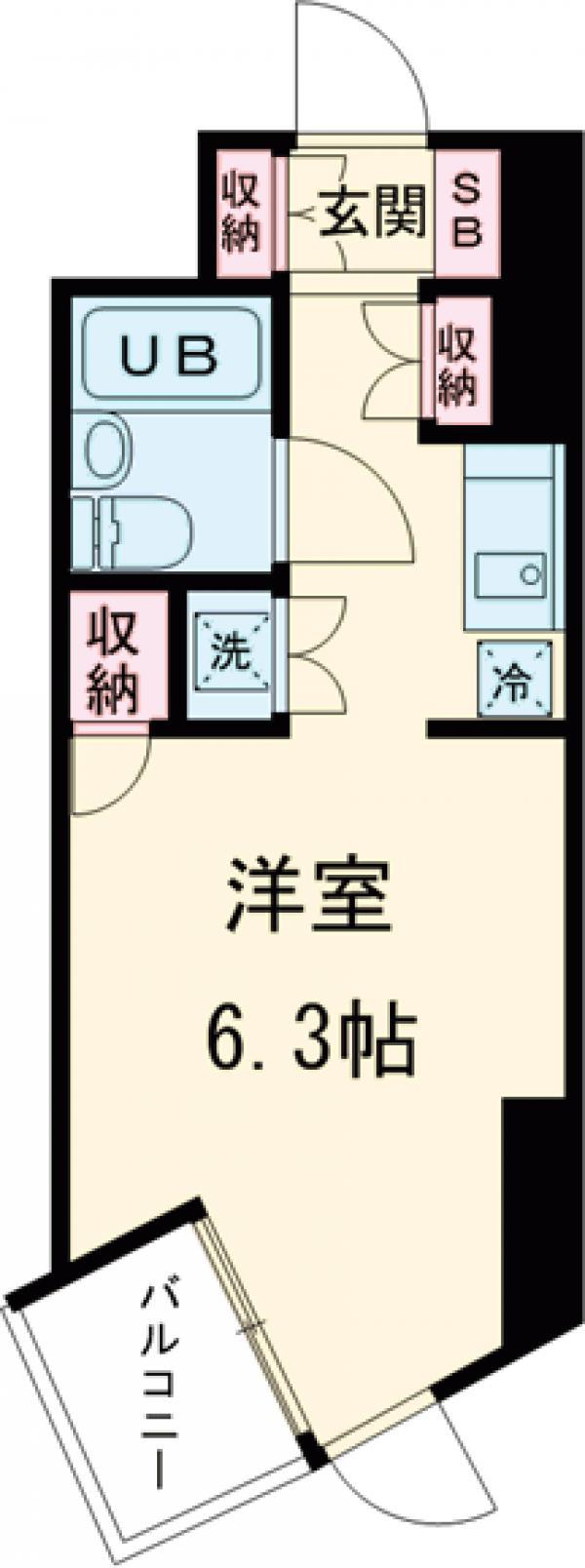 ドミトリー原町田・305号室の間取り