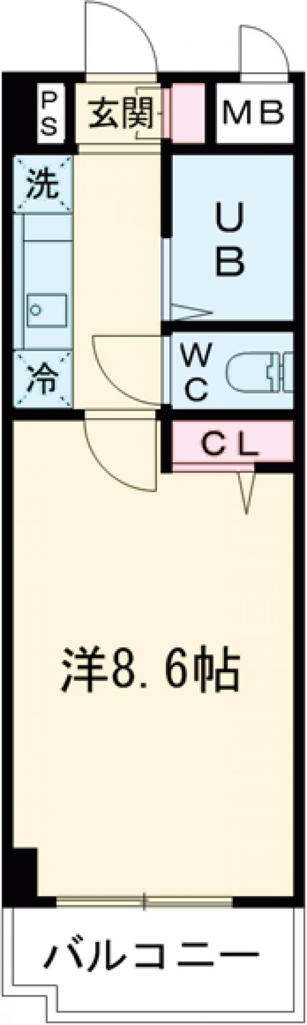 阿部松島マンション・105号室の間取り