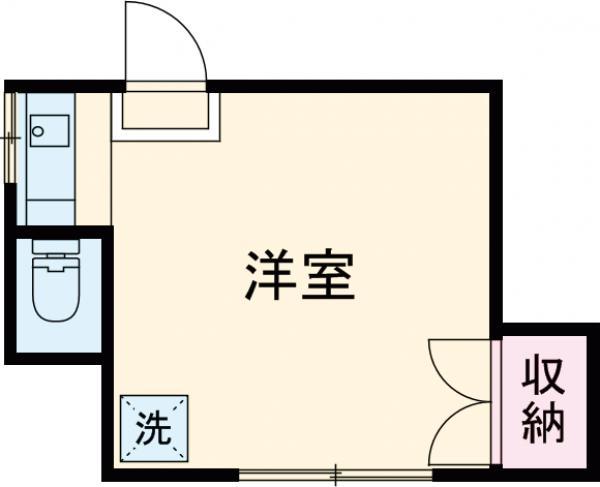 吉田荘・210号室の間取り