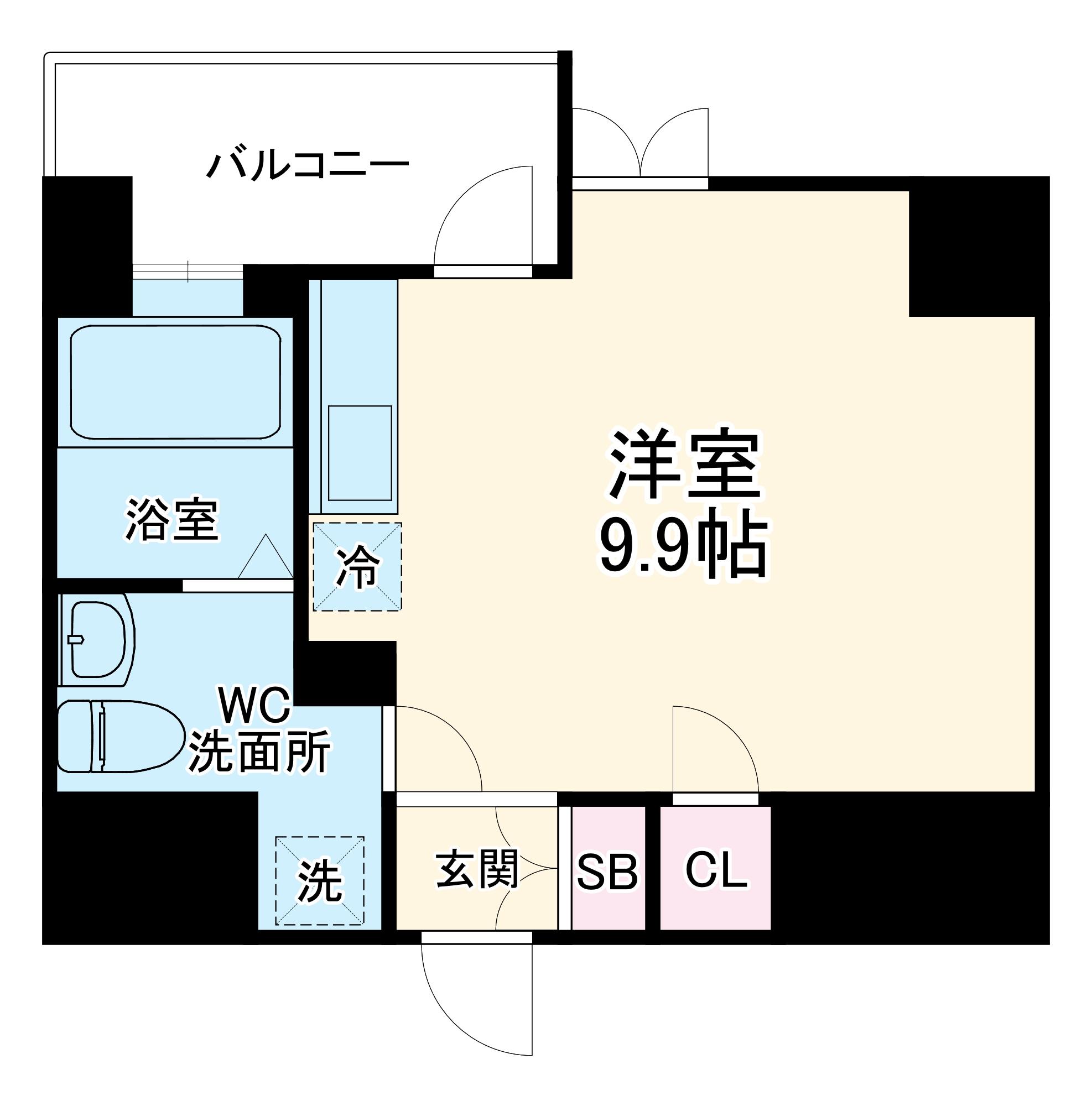 リエス千葉新宿・309号室の間取り