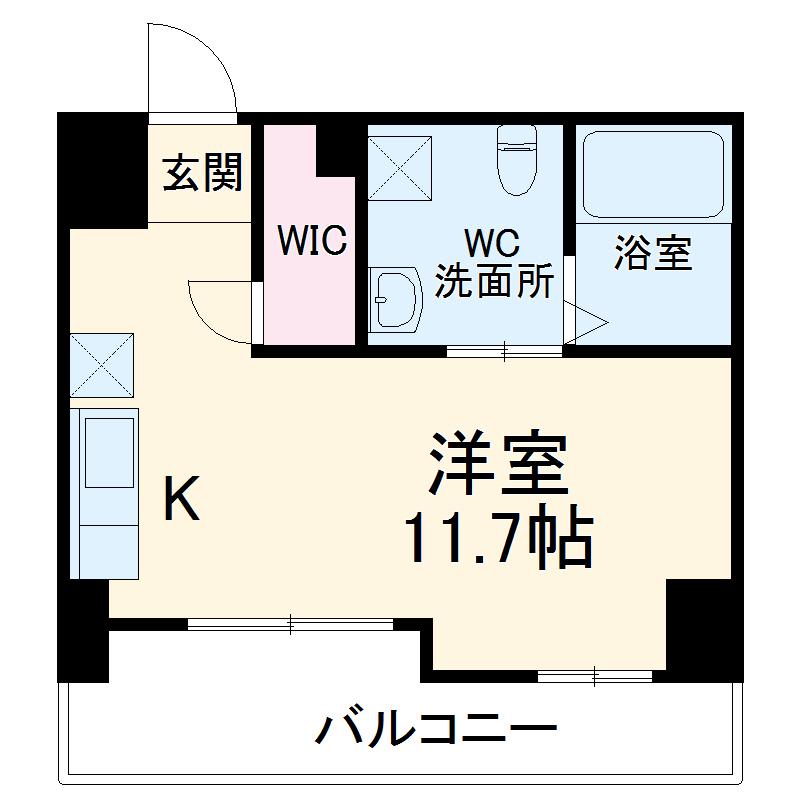 リエス千葉新宿・404号室の間取り