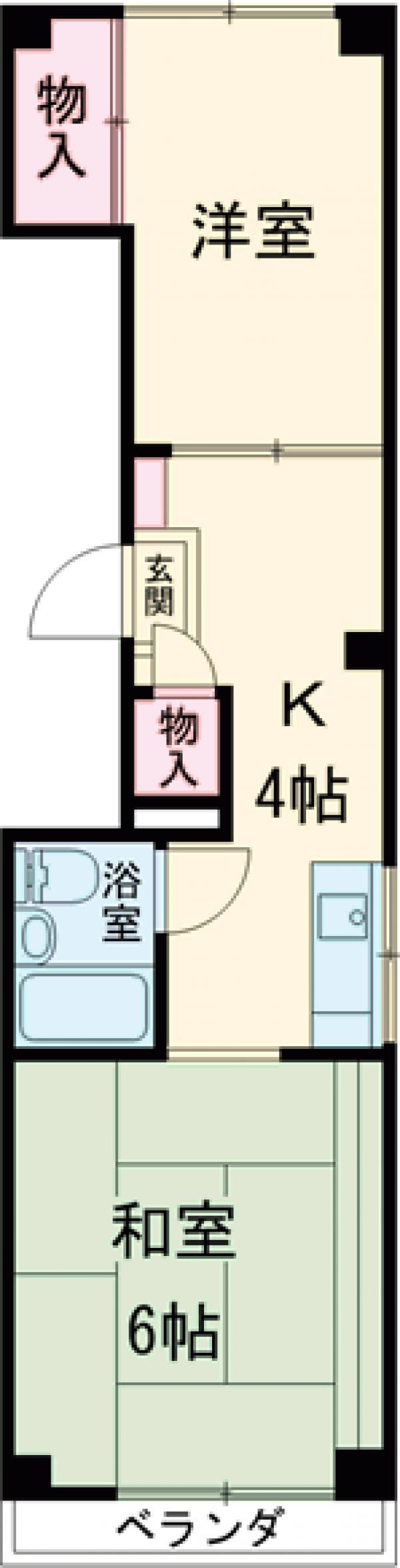 東印ビル 2F号室の間取り