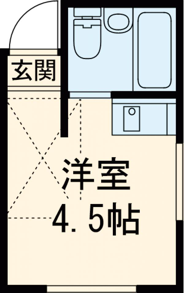 アビタシオン長崎・203号室の間取り