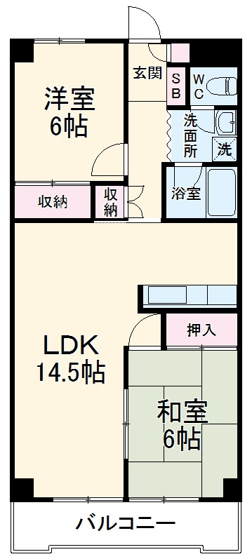 SKマンション12・302号室の間取り