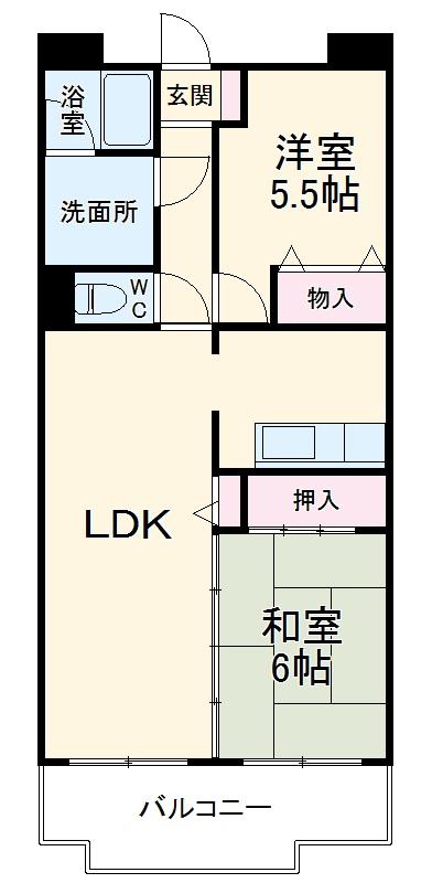 須賀第3ハイツ・102号室の間取り
