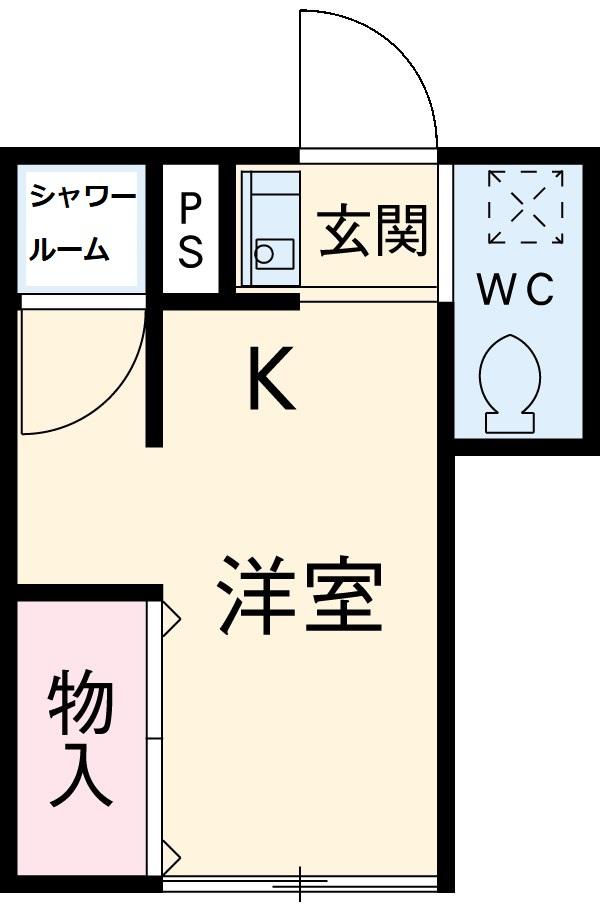 豊コーポ・1号室の間取り