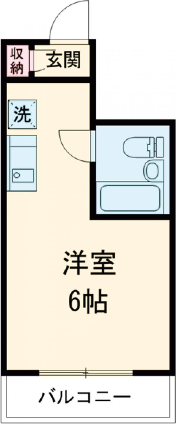 ライオンズマンション新宿・202号室の間取り