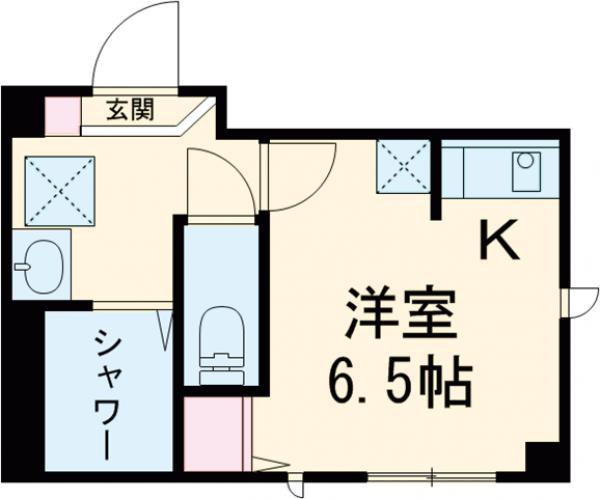 平井SKハイツ・303号室の間取り