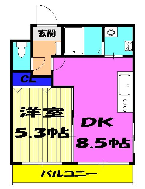 Nameki Mansion 101号室の間取り