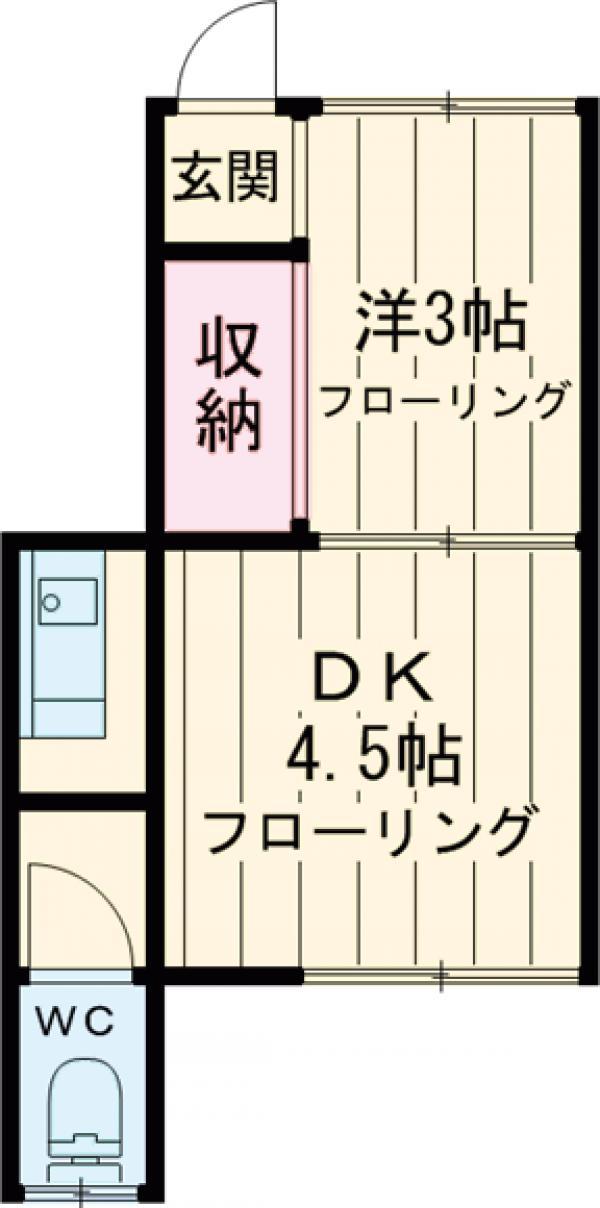 須田荘・9号室の間取り