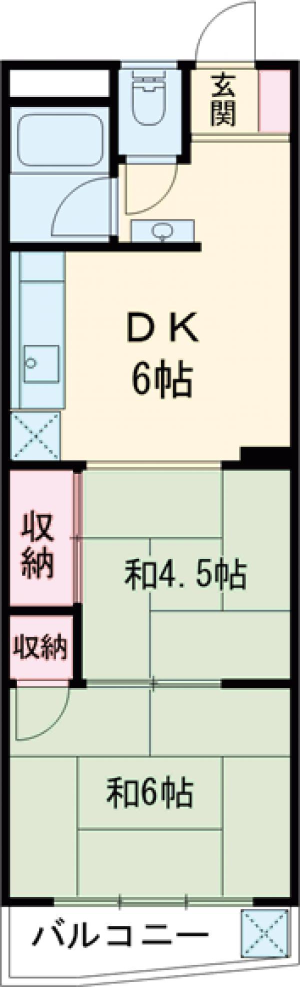 日本ビル・202号室の間取り