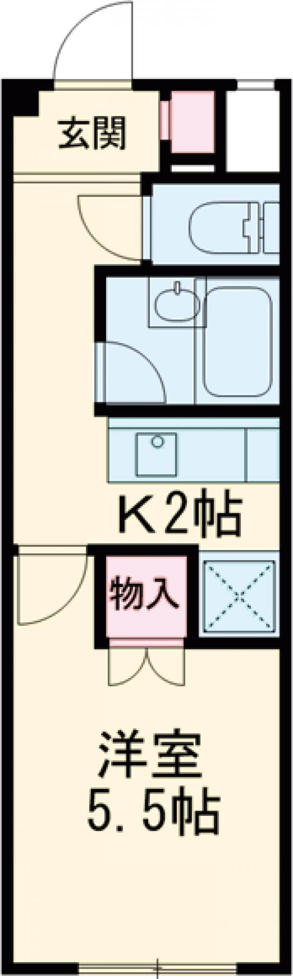 SKK-Ⅷ・106号室の間取り