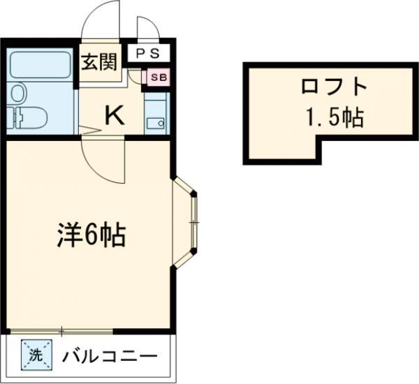 メゾンドボヌールⅢ・107号室の間取り