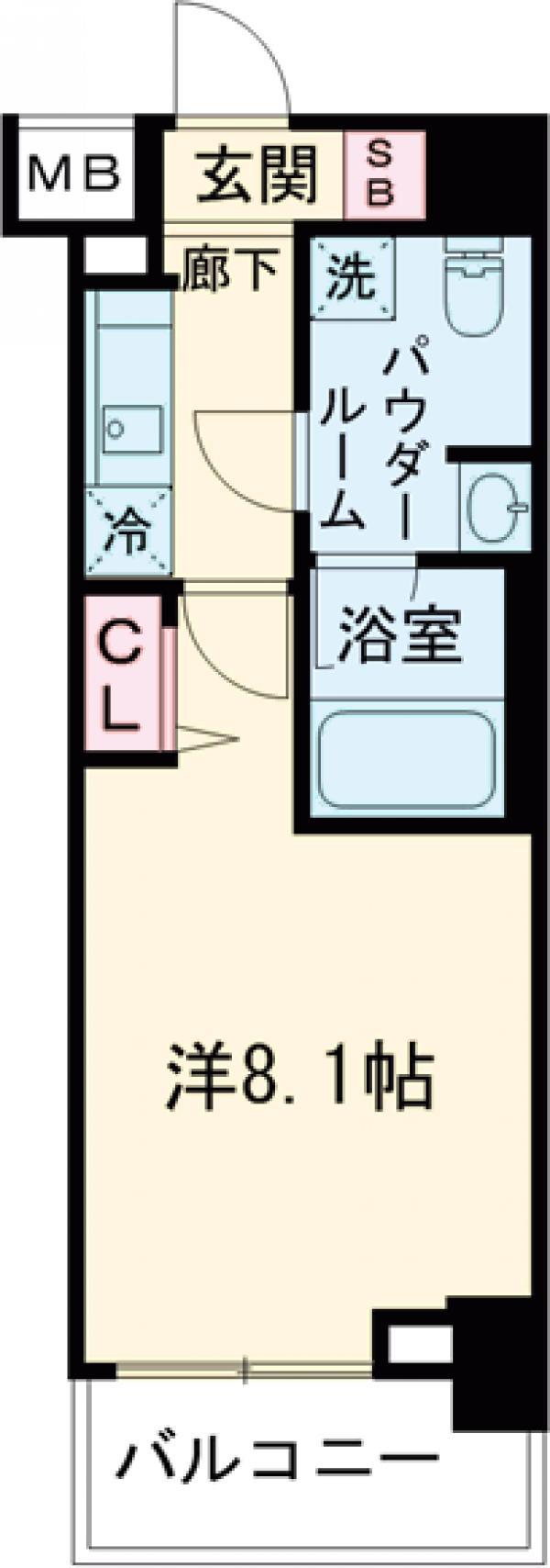 パティーナ東武練馬・102号室の間取り